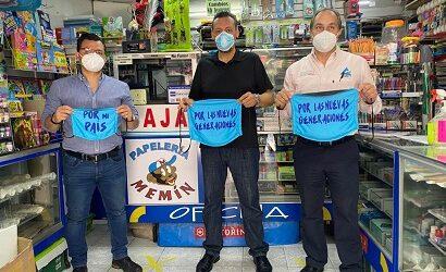CANACO y Ayuntamiento de Córdoba realizan operativo de concientización sobre cubrebocas