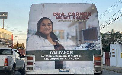 La Diputada Federal Carmen Medel: ahora comete actos anticipados de campaña