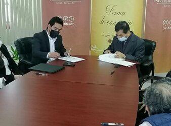 Firman convenio de Colaboración la Universidad de Xalapa y el Colegio de Arquitectos de Xalapa que preside Aarón Yovanni Guerrero Morales.