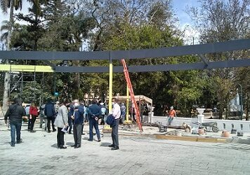 Organizaciones civiles exigieron al alcalde de Xalapa cancele la obra de rehabilitación del parque Juárez