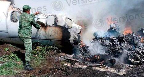 Confirma Sedena seis muertos tras desplome de aeronave de la Fuerza Aérea Mexicana en Veracruz