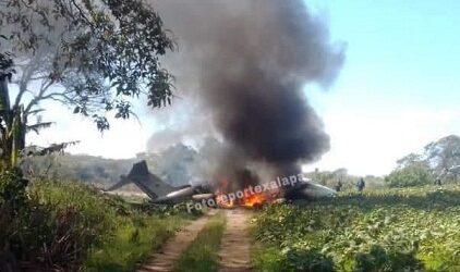 Cae esta mañana una aeronave en el Lencero de la ciudad de Xalapa.