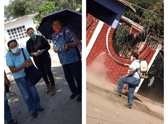 LLEGA A POTRERO VIEJO LA CAMPAÑA DE SANITIZACIÓN DE LA CNPR DEL INGENIO EL POTRERO