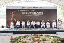 Presidenta municipal de Córdoba participa en ceremonia cívica dedicada a Serafín Olarte