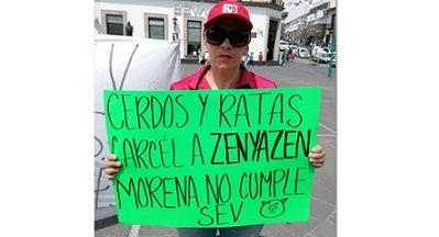 """Maestra exige le restituyan su plaza laboral; Pide cárcel para """"Zenyazen""""."""