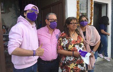 Buena aceptación tienen los candidatos a la alcaldía y diputación local de Podemos en el electorado xalapeño