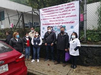 ANTE UN GOBIERNO INSENSIBLE…Bajo protesta trabaja personal del Checan y del Instituto de Salud Mental de la SSA