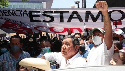 Tras entregar impugnación en INE, Félix Salgado dice que no hay Plan B porque él será candidato