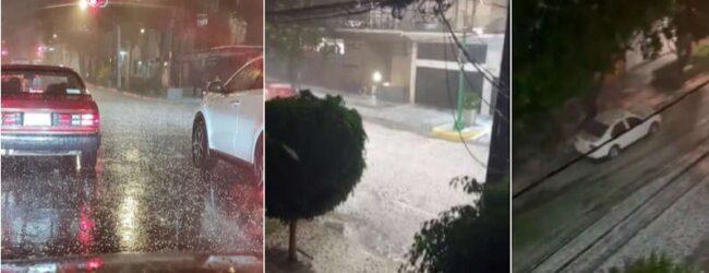 Una tromba con lluvia, granizo y fuertes vientos baña la CdMx, afectada por una fuerte sequía