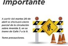 Reducirán circulación vehicular en Avenida 3, recomienda UMPC Córdoba tomar precauciones