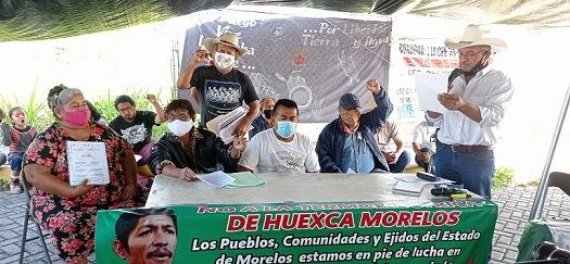 Sin ser atendidos por funcionarios de Conagua, levantan  su plantón ejidatarios y ambientalistas de Morelos