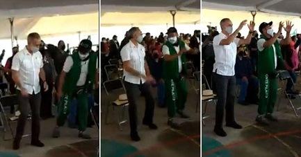 López-Gatell baila… o lo intenta, mientras espera su vacuna (VIDEO)