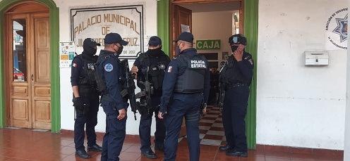 SSP asume el mando de la policía en el municipio de Jilotepec, retienen y desarman a los municipales