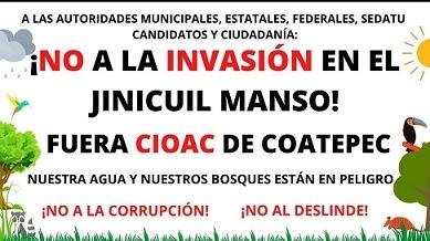 Denuncian posesionarios de predios de la zona de Sierra    Alta de Coatepec, deslinde ilegal que pretende hacer la Sedatu