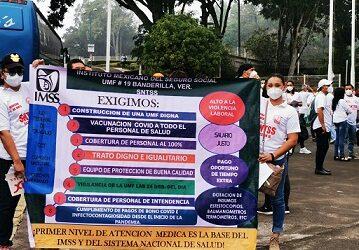 Trabajadores del Seguro Social exigen que todo el personal    que labora en la institución sea vacunado contra el COVID-19