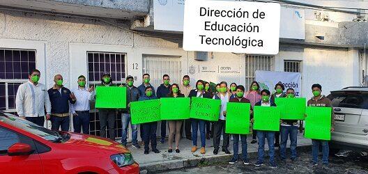 Toman oficinas de Educación Tecnológica,  agremiados del SITEM Sección Veracruz