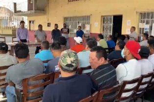 Obreros de PEÑUELA, respaldan a William López Gómez, cándidato de PODEMOS a la Presidencia Municipal de AMATLÁN DE LOS REYES.