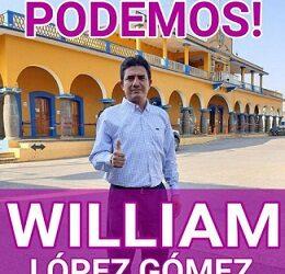 """Tiene miedo a la derrota el alcalde de Amatlán; Le pone """"Cola"""" e intimidan con la policía municipal al candidato de PODEMOS,  William López."""