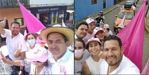 De las caravanas en Amatlán de los Reyes, destaca la de Podemos con William López, sin acarreados ni gente pagada.