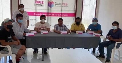 Paquetes electorales incompletos en Jesús Carranza.