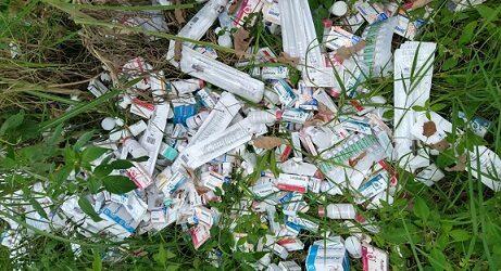 Asegura Secretaría de Salud medicamentos hallados en lote baldío de Xalapa