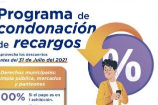 Se mantiene vigente Programa de Condonación de Recargos en Derechos Municipales en Córdoba