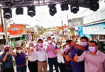 Respondieron cientos de amatlecos a William López en su cierre de Campaña