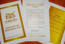 Ayuntamiento de Córdoba emite edición especial de Acta Matrimonial