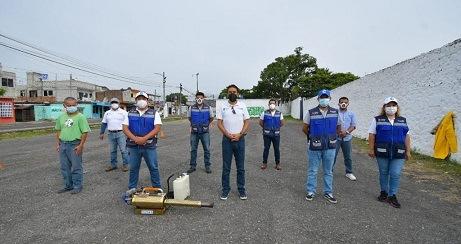 Realiza Brigada Vigilante COVID Córdoba jornada de sanitización vehicular