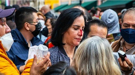 Golpeada y sangrando, Lía Limón denuncia agresión afuera del Congreso CDMX