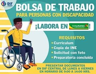 Abre DIF y Bodega Aurrera bolsa de trabajo para personas con discapacidad