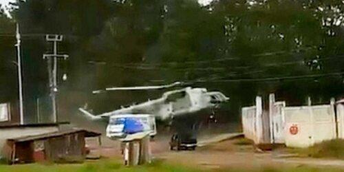 Así fue el desplome del helicóptero de la Semar en Hidalgo