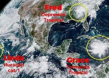 Prevén que 'Grace', convertida en Huracán, toque tierra dos veces en costas mexicanas