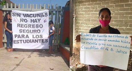 Padres de familia impulsan en Twitter el hashtag #VacunaParaEstudiantes