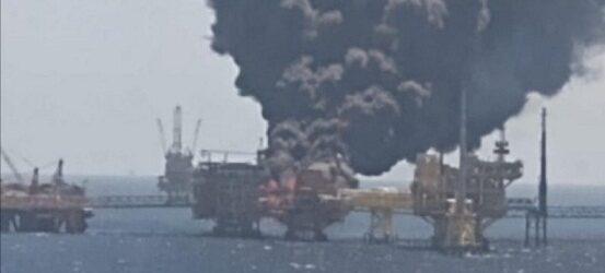 Controlan incendio en plataforma marina en Campeche; hay cinco heridos, informa Pemex