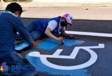 Pinta DIF señalética de acceso a domicilios  para personas con discapacidad