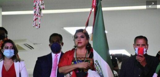Clara Brugada dedica vivas a AMLO, Sheinbaum y a la 4T en el Grito de Independencia (Video)