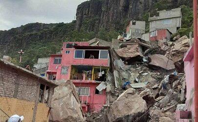 TRAGEDIA…Se desgaja Cerro del Chiquihuite en Tlalnepantla; reportan personas atrapadas