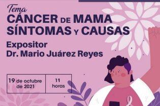IMM Córdoba invita a la conferencia Cáncer de mamá, síntomas y causas