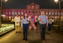Palacio Municipal de Córdoba se ilumina de rosa